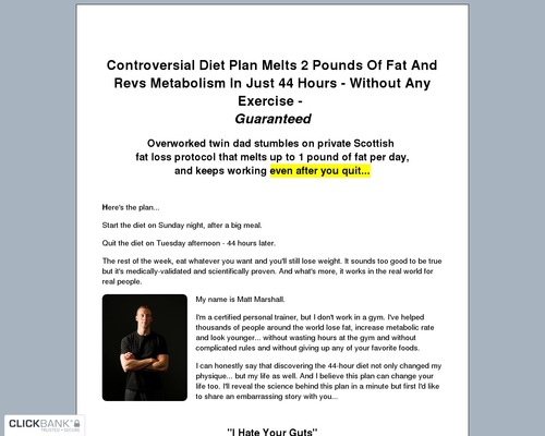 Underground Fat Loss Manual Info Page